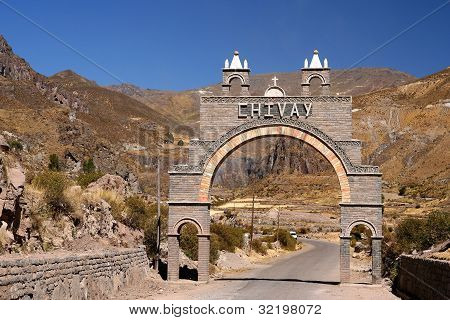 Entry gate to Canyon Colca