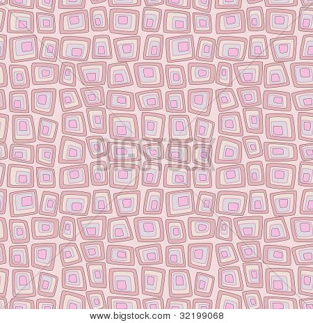 Pink seamless pattern with geometric squares pop art imitation poster