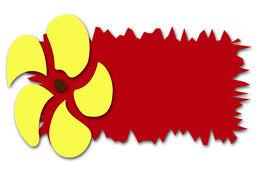 Yellow Pinwheel On Red