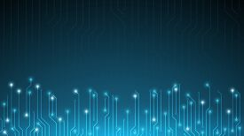 Blue Abstract Circuit Bord Technology Background,futuristic Tech Background,cyberspace Technology Ba