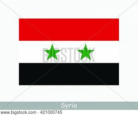 National Flag Of Syria. Syrian Country Flag. Syrian Arab Republic Detailed Banner. Eps Vector Illust