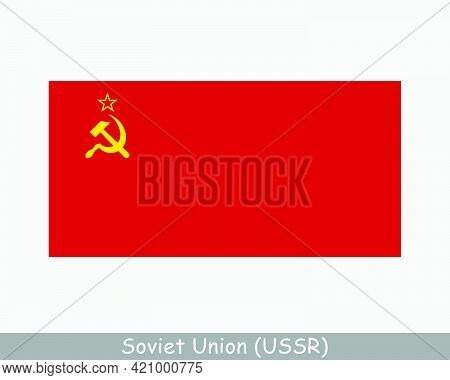 National Flag Of The Soviet Union. Ussr Country Flag. Union Of Soviet Socialist Republics Detailed B