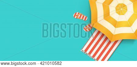 Summer Beach Concept. Summer Holidays Design Template For Promo Poster, Web Banner, Social Media And