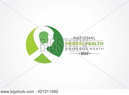 Vector Illustration Of National Mental Health Awareness Month Observed In May.