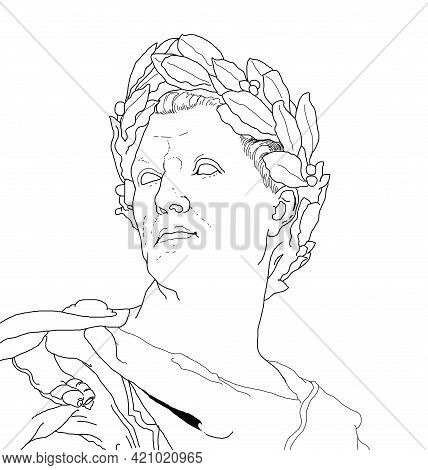 Illustration About The Emperor Of Ancient Rome, Julius Caesar