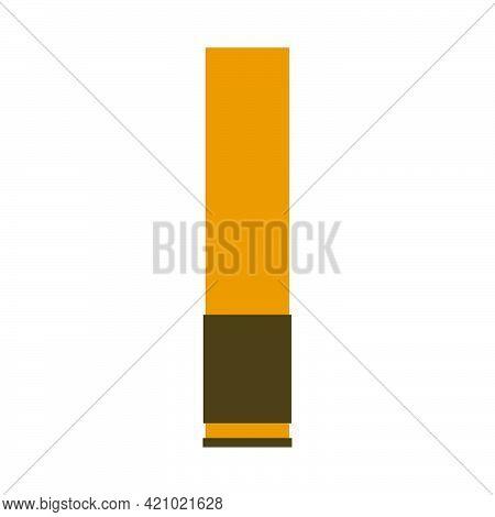 Gun Bullet War Military Weapon Danger Army Ammunition Vector Illustration. Shell Bullet Shot Munitio