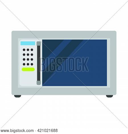 Microwave Cooking Appliance With Oven Vector Kitchen Illustration. Equipment Microwave Technology De