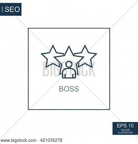 Abstract Business Icons, Ceo Chief Boss - Vector Illustration