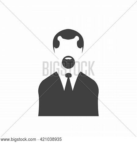 Businessman Head Icon Avatar. Male And Female Avatar Profile Sign, Face Silhouette Vector