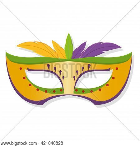 Isolated Colored Mardi Gras Mask Vector Illustration