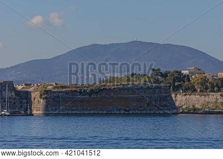 Old Venetian Fortress In Corfu Town Greece