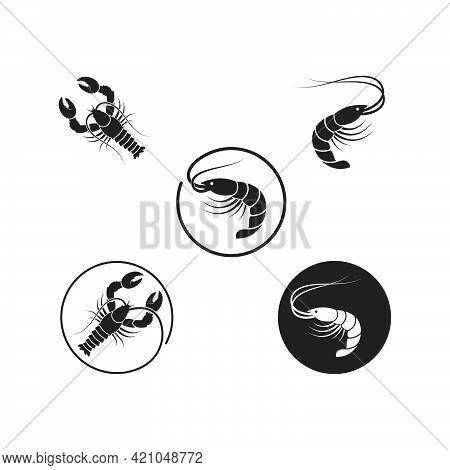 Lobster Icon Vector Illustration Design