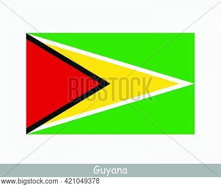 National Flag Of Guyana. Guyanese Country Flag. Co-operative Republic Of Guyana Detailed Banner. Eps