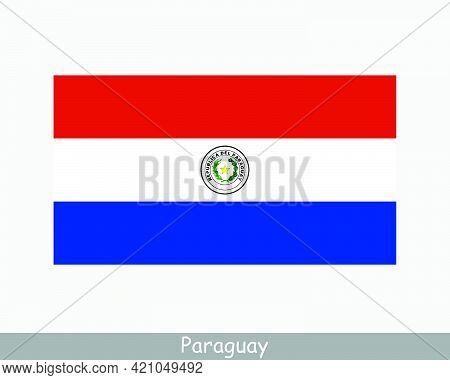 National Flag Of Paraguay. Paraguayan Country Flag. Republic Of Paraguay Detailed Banner. Eps Vector