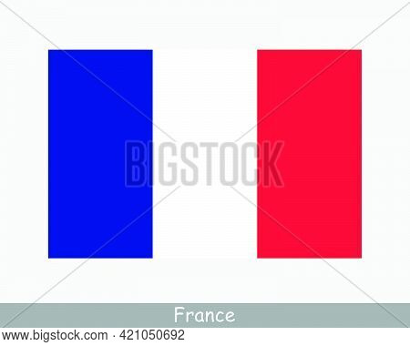 National Flag Of France. French Country Flag. French Republic Detailed Banner. Eps Vector Illustrati