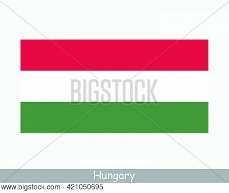 National Flag Of Hungary. Hungarian Country Flag Detailed Banner. Eps Vector Illustration Cut File