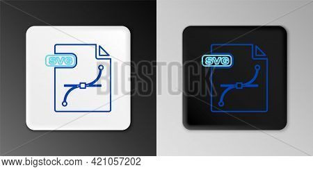 Line Svg File Document. Download Svg Button Icon Isolated On Grey Background. Svg File Symbol. Color