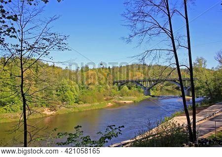 Sigulda, Latvia - 23 May 2020: Spring In Sigulda. Sigulda Is Located 53 Kilometers From The Capital