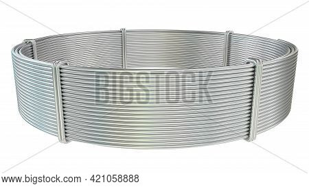 Aluminum Wire Skein. Isolated Industrial 3d Rendering