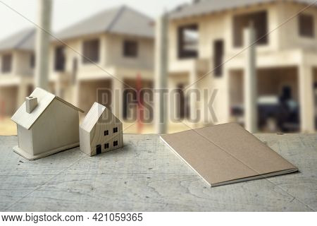 Village Project In The Background In Real Estate Project.
