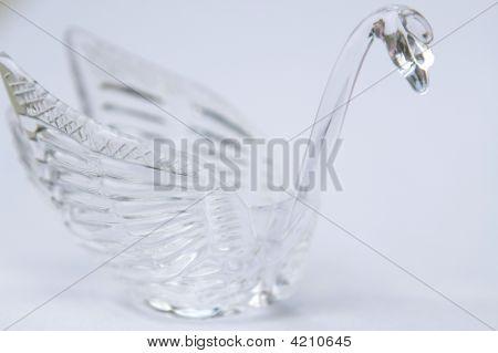 Horizontal Glass Swan