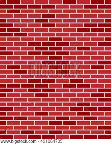 Red Brick Wall Masonry Puzzles Texture Background.