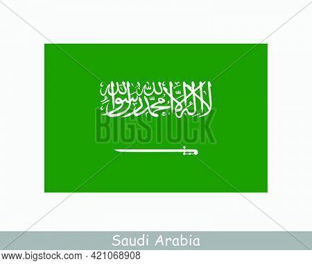 National Flag Of Saudi Arabia. Saudi Arabian Country Flag. Kingdom Of Saudi Arabia Detailed Banner.
