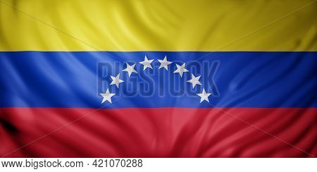 3d Rendering Of A National Venezuela Flag