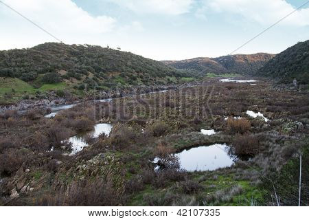 River Landscape In The Alentejo Region