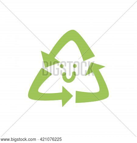 Recycle Icon. World Environment Day. Environmental Problems And Environmental Protection. Vector Ill