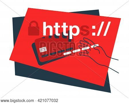 Phishing Danger Banner - Fraudulent Attempt To Obtain Passwords And Credit Card Details, By Imperson