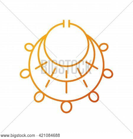 Ancient Jewelry Gradient Linear Vector Icon. Excavated Treasure. Bracelet And Necklace. Personal Ado