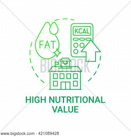 High Nutritional Value Concept Icon. School Meal Requirements. School Healthy Eating. Special Meal P