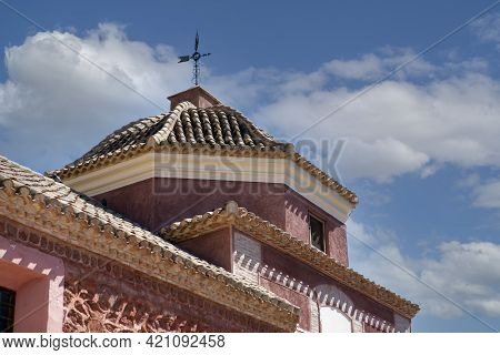 View Of The Sky And The Dome Of The Hermitage Of Santa Eulalia In The Town Of Totana, Murcia, Spain.
