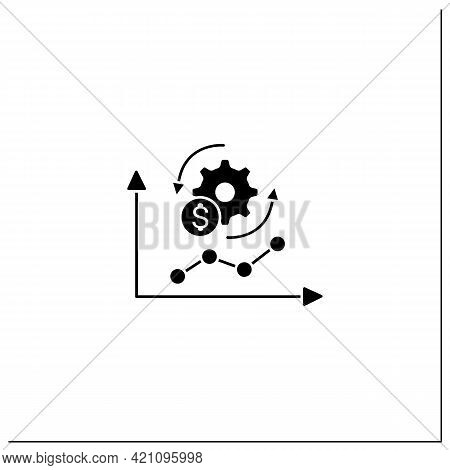Economy Adaptation Glyph Icon. Positive Changes, New Development, Better Technology.changes In Busin