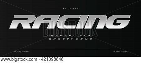 Racing Alphabet. Speed Sport Font, Automotive Type For Modern Dynamic Logo, Headline, Auto Car Brand