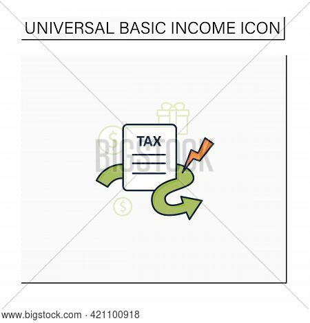Closing Tax Loopholes Color Icon. Tax Declaration. Help Raise Significant Revenue. Assistance To Gov