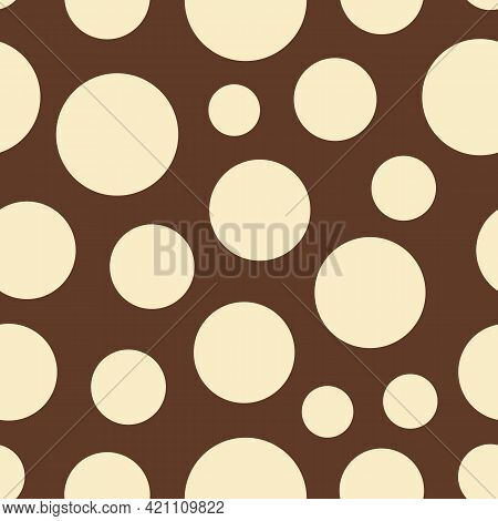 Big And Little Dots Vector Seamless Repeat Pattern