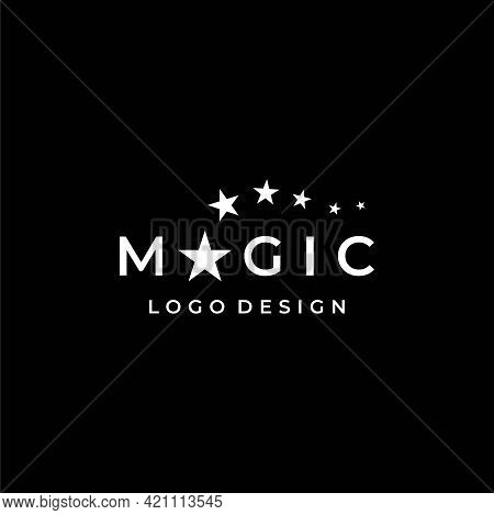 Modern And Unique Wordmark Logo About Magic On Dark Background. Eps 10, Vector.