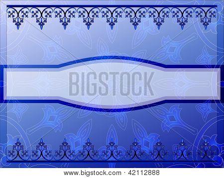 Blue ornamental bookcover