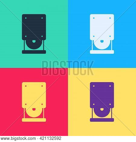 Pop Art Optical Disc Drive Icon Isolated On Color Background. Cd Dvd Laptop Tray Drive For Read And