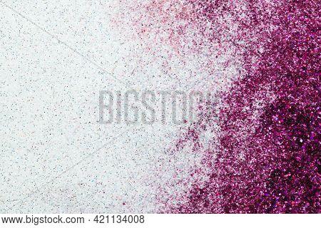 Purple and white glittery background