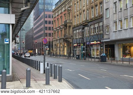 Frankfurt, Germany - December 6, 2016: Gloomy Day Of Snowless Winter Frankfurt, Germany. Frankfurt I