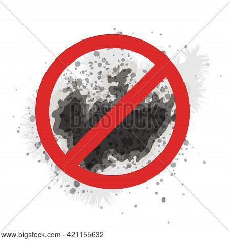 The Stop Sign Black Mold Shows The Fight Against A Poisonous Fungus That Harms People's Health. The