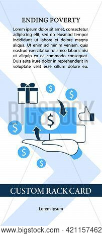 Cash Payment Flyer Template. Hand Hold Money. Advertisement With Information. Cash Deposits Only.uni