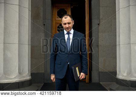 05.20.2021 Ukraine. Kyiv. Verkhovna Rada Of Ukraine. Portrait Of Oleksandr Kubrakov The New Minister