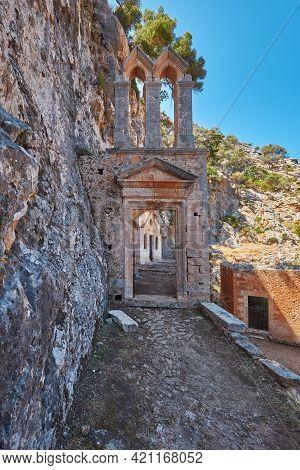 The Gothic Gate Katholiko Monastery Church Of St John The Hermit , Near Gouverneto Monastery, Chania