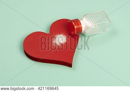 Excess Salt In The Heart Symbolized By A Heart Shape And A Salt Shaker