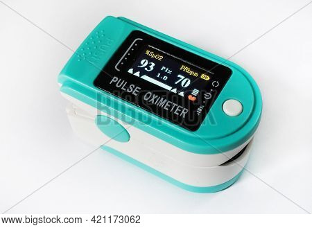 Pulse oximeter device isolated, healthcare monitoring concept