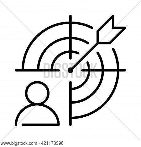 Monochrome Staff Selection Icon Vector Illustration. Headhunting, Recruiting And Finding Candidates